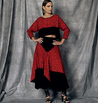 Vogue pattern: Top and Skirt, Zandra Rhodes