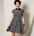 Petite Fit and Flare Dress, Zandra Rhodes