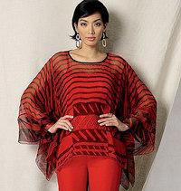 Vogue pattern: Handkerchief-Hem Tunic and Pants, Zandra Rhodes