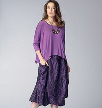 Vogue 9161. Top and Skirt, Marcy Tilton.