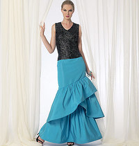 Vogue pattern: Floor-Length Tiered Skirts