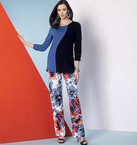 Vogue pattern: Asymmetrical Seam-Detail Tops, Dress and Pants, Five Easy Pieces