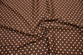 Brown cotton with white dots