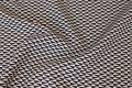 Jacquard-woven black and white fabric, lightweight creppet surface