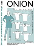 Onion 2061. Short dress with dolman sleeves, for knits.