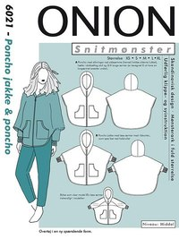 Onion pattern: Poncho jacket and poncho