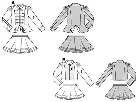 AB: close-fitting jacket