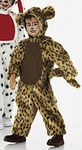Very wide jumpsuit (dog, panther, tiger) with separate hood.