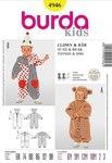 Burda 4946. Teddy bear costume, bear, clown.