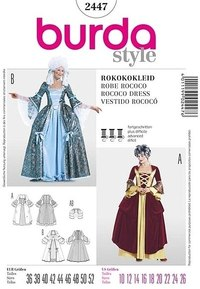 Rococo dress. Burda 2447.