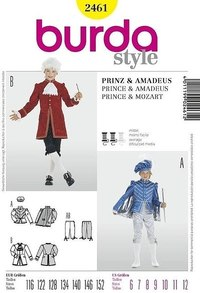 Prince or Mozart. Burda 2461.