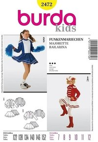 Cheerleader girl. Burda 2472.