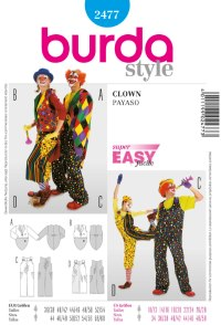 Clown. Burda 2477.