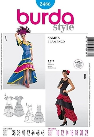 Dress for samba or flamenco