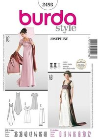 Empire-line dress. Burda 2493.