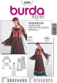 Castle damsel. Burda 2509.