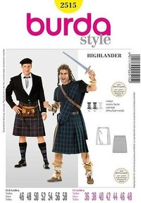 Highlander, swordsman. Burda 2515.