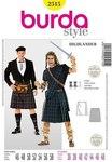 Burda 2515. Highlander, swordsman.