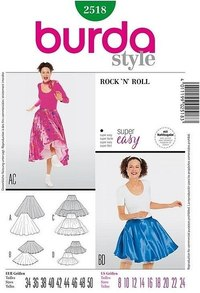 Skirt, Rock n Roll. Burda 2518.