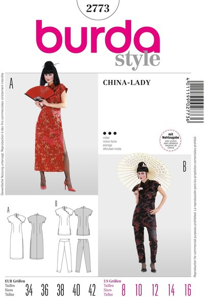 Suzy Wong dress suit, China dress