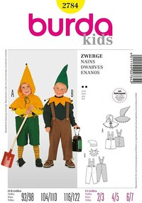 Dwarves. Burda 2784.