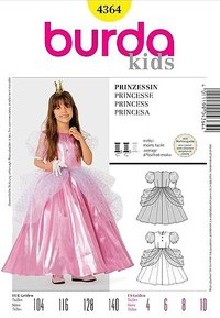 Princess. Burda 4364.