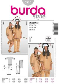 Red Indian ensemble. Burda 5815.