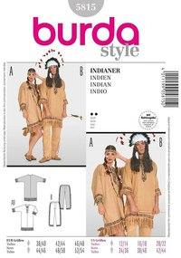 Red Indian ensemble. Burda 5815.