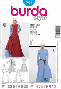 Historic Dress. Burda 7977.
