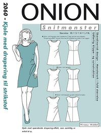 Dress with drapey for knits. Onion 2060.