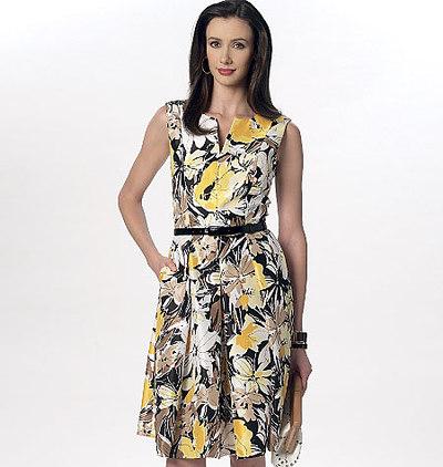 Notch-Neck Princess-Seam Dresses