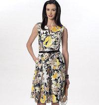 Notch-Neck Princess-Seam Dresses. Vogue 9167.