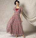 Vogue 9168. Flutter-Sleeve Dress, Belt and Slip, Kathryn Brenne.