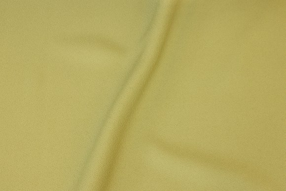 Apple-green polyester with lightweight creppet surface