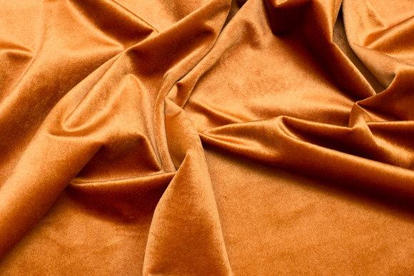 Beautiful, cinnamon-colored rokoko-velvet with light shiny surface
