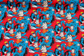 Blue patchwork-cotton with Superman.