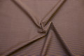 Cotton-poplin with narrow stripes in blue and dirt-brown