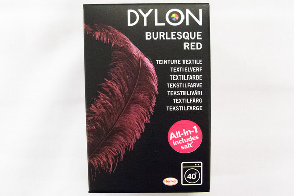 Dylon textile washing machine dye, burlesque red