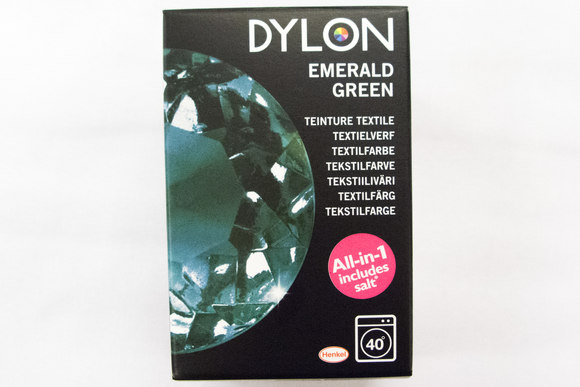 Dylon textile washing machine dye, emerald green