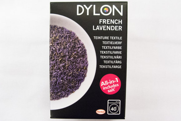 Dylon textile washing machine dye, french lavender