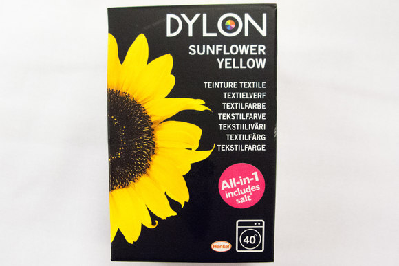 Dylon textile washing machine dye, sunflower yellow