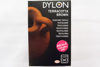 Dylon textile washing machine dye, terracotta brown