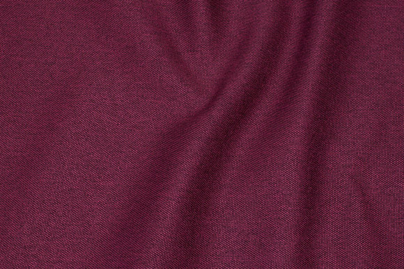 Furniture fabric in speckled dark bordeaux with light back