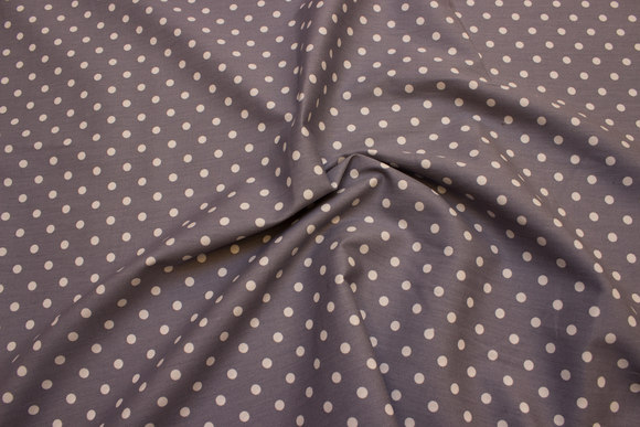 Grey cotton with white dots