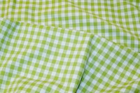 Kitchen 10 mm checkers in limegreen and white