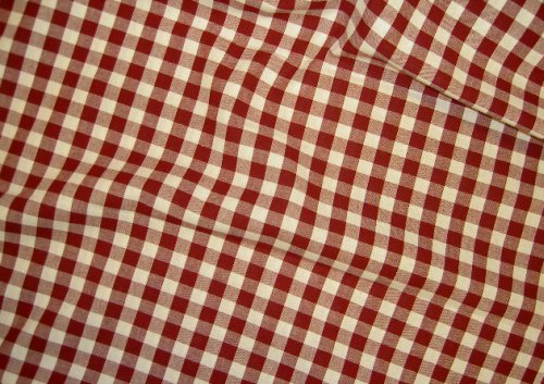 Cotton, woven kitchen 4mm. checkers red/white