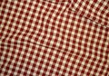 Cotton, woven kitchen 4mm. checkers red/white. 9,26