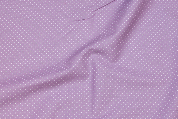 Light red-purple, firm cotton with white mini-dots