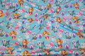 Light turqoise cotton-jersey with Paw Patrol.