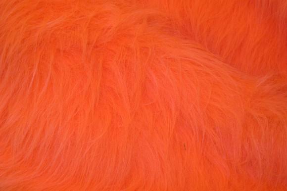 Longhaired fake fur in fresh orange
